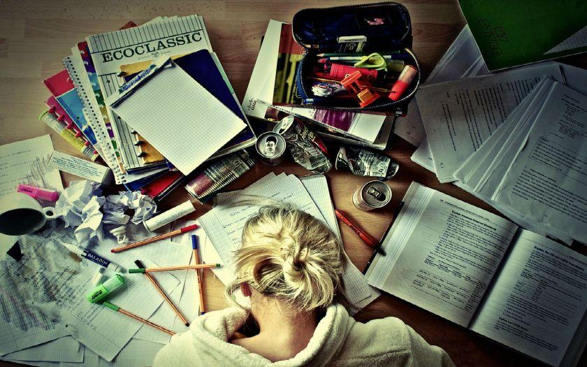 Education Books Notebooks Coffee Girl Blonde Pen - PremiumWallpapersHD
