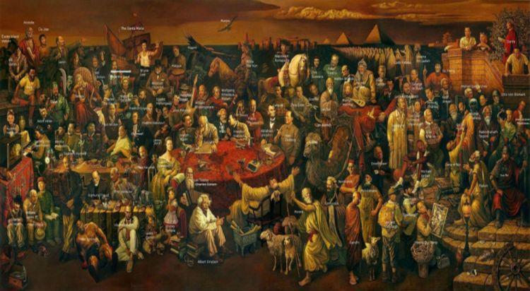 celebrity albert einstein realistic socrates detailed 2400x1040 wallpaper_www