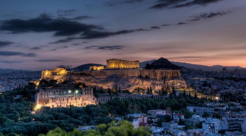 Athens-Skyline-at-night-Greece-Wallpaper