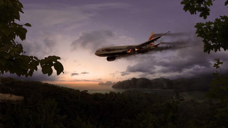 sky_island_plane_crash_man_torch_jungle_hd-wallpaper-352617