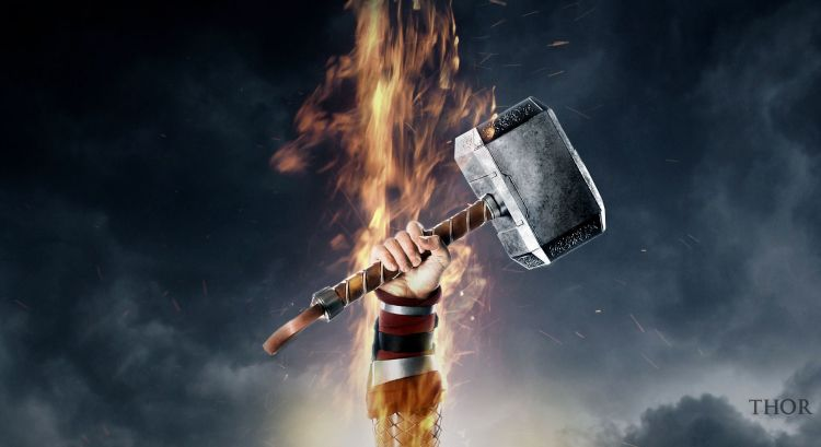 Thor-Hammer-HD-Wallpaper