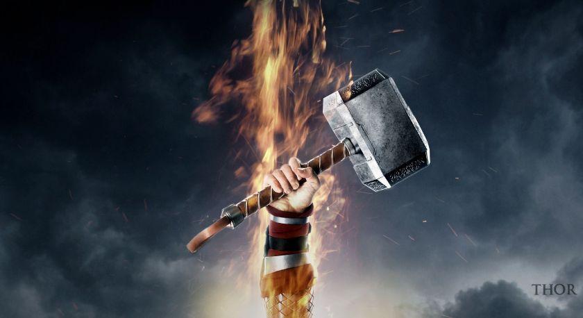 Thor-Hammer-HD-Wallpaper