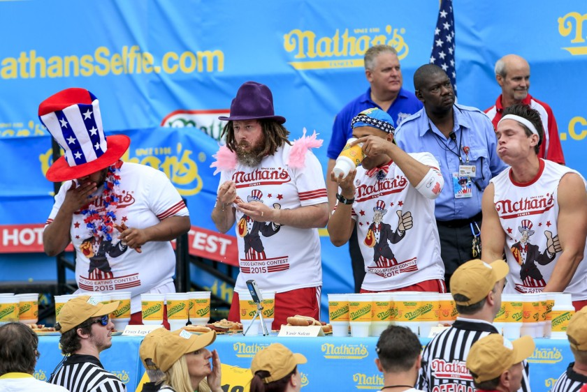 Hot-dog eating contest in New York
